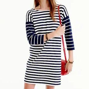 J Crew Colorblock Stripe Ponte Dress Size Small